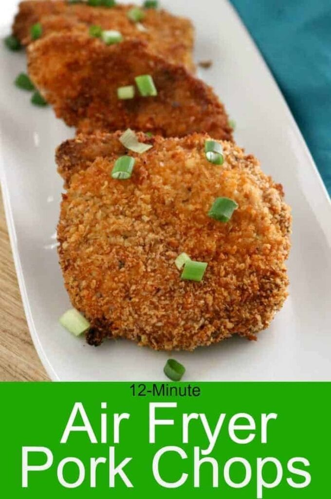 Zesty Breaded Air Fryer Pork Chops by Kitchen Dreaming
