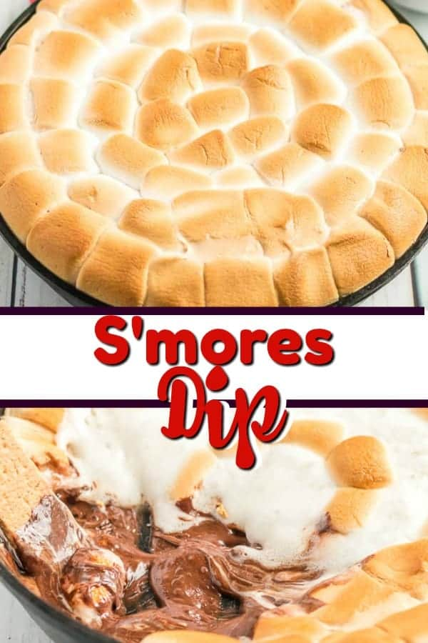 s'mores dip pin for pinterest