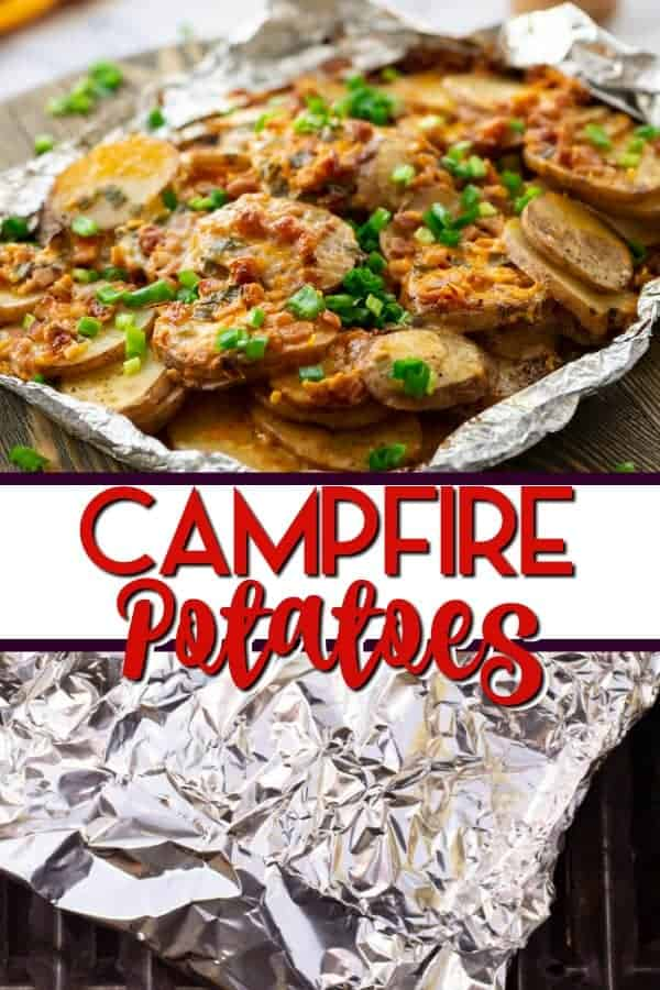 Campfire Potatoes grilled in foil