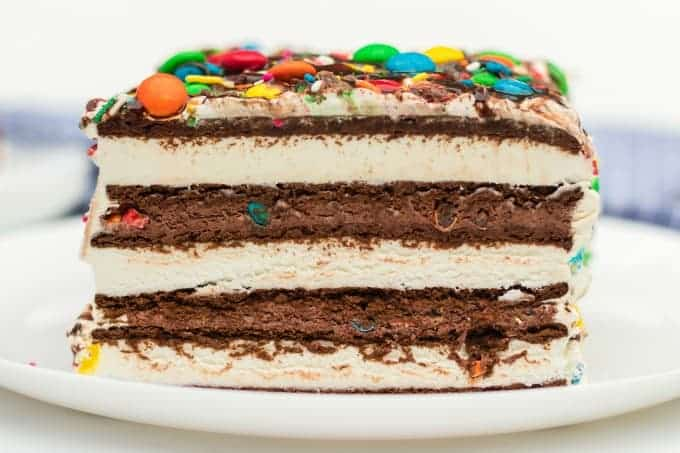 Ice Cream Sandwich Cake side view