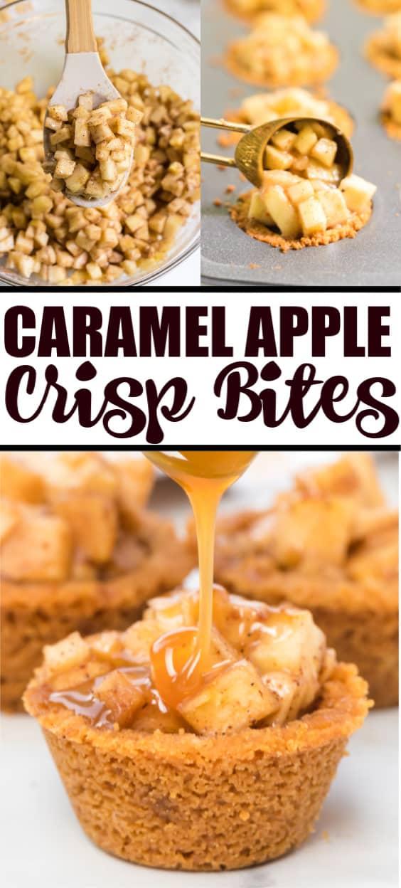 apple crisp bites Pinterest image