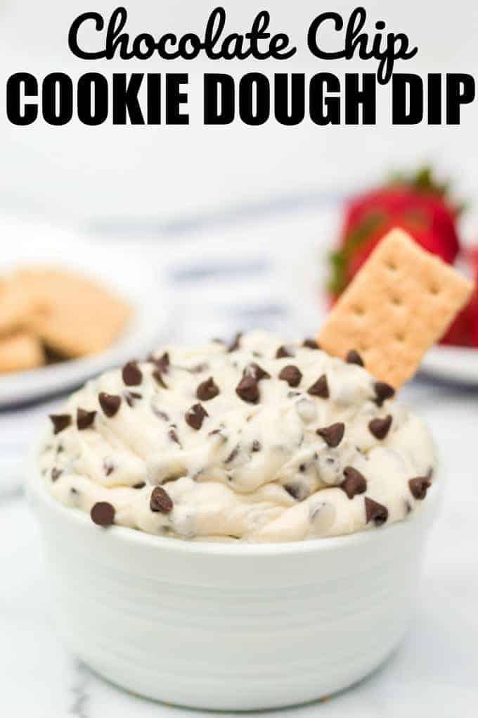 Cookie Dough Dip Recipe in a bowl