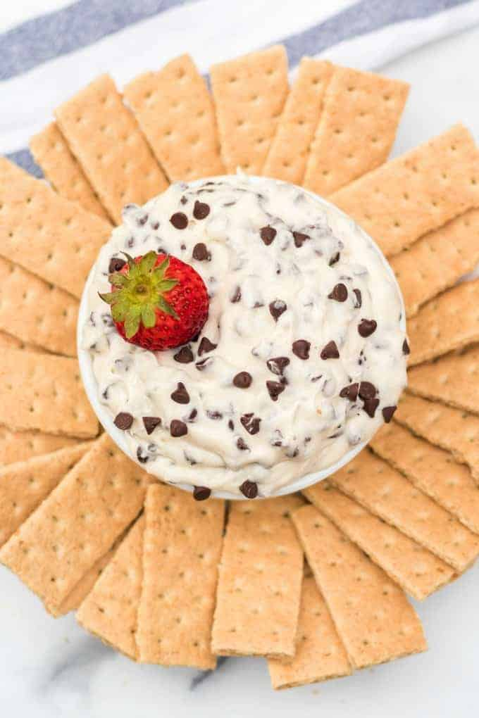 Cookie Dough Dip with chocolate chips