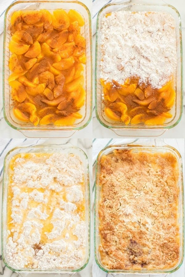How to make peach dump cake pictorial