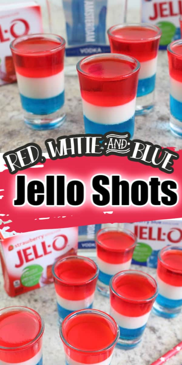 Red, White & Blue Jello Shots