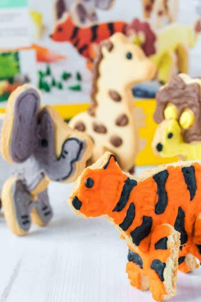3D animal cookies