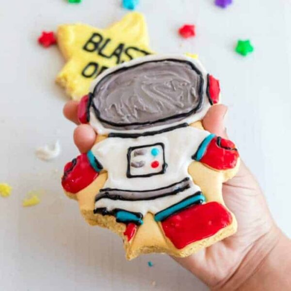 astronaut cookie square