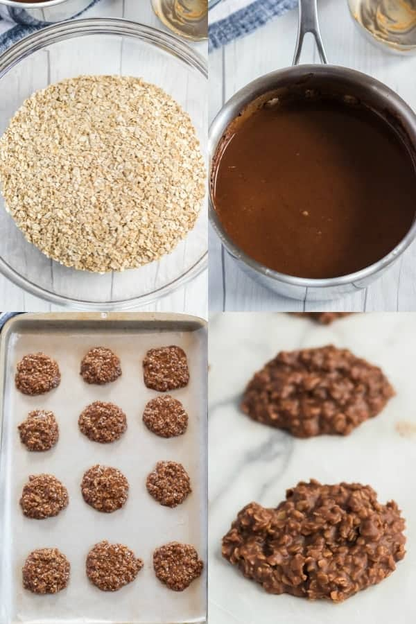 How to make No Bake Chocolate Peanut Butter Cookies