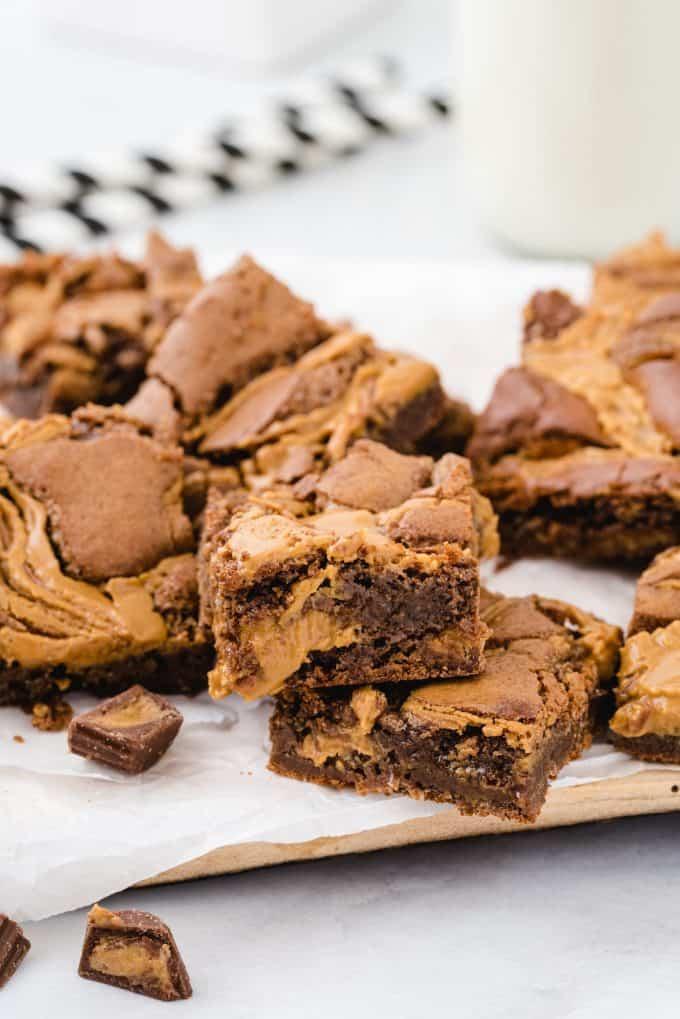 peanut butter brownies hero image