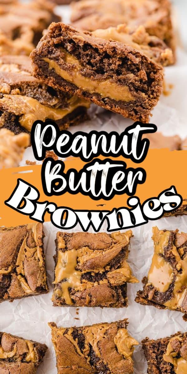 peanut butter brownie Pinterest