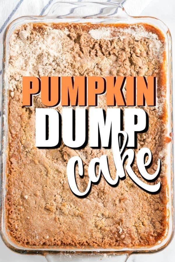 Pumpkin Dump Cake Pinterest Image
