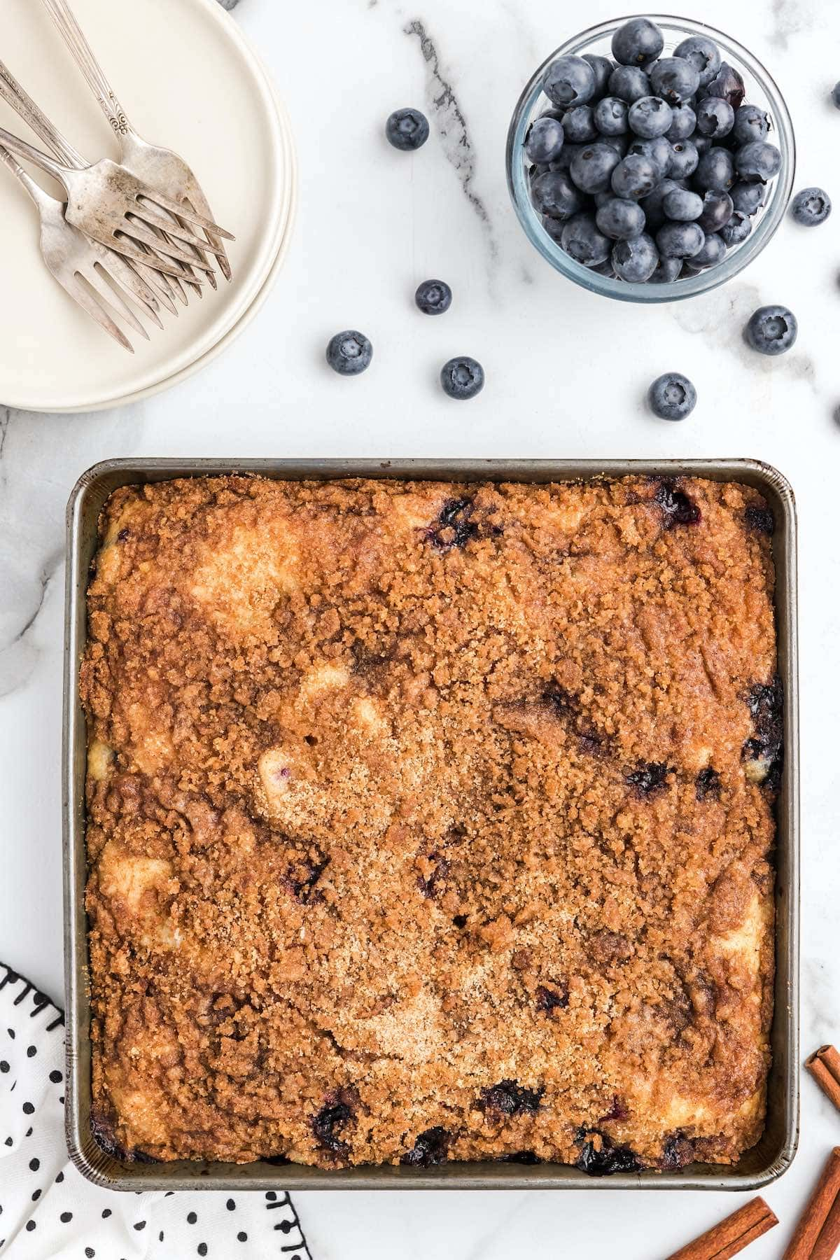 baked blueberry coffee cake
