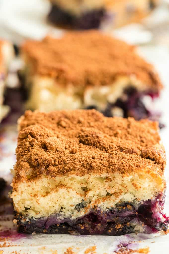 Blueberry Coffee Cake slice