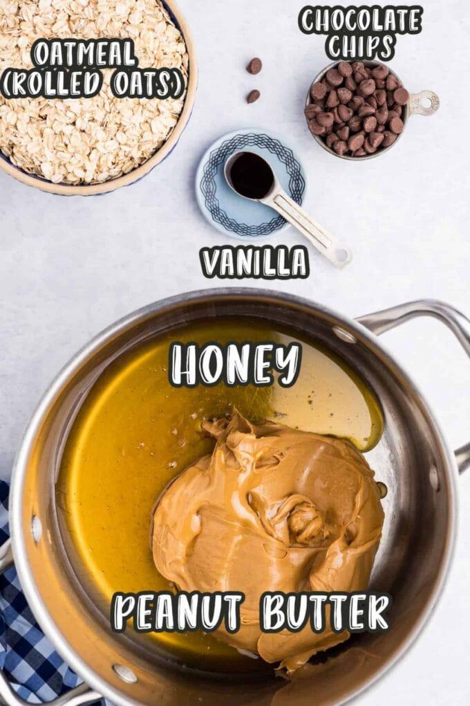 Peanut Butter Oatmeal Bars Ingredients