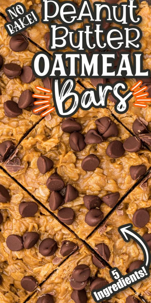 Peanut Butter Oatmeal Bars Pinterest Image