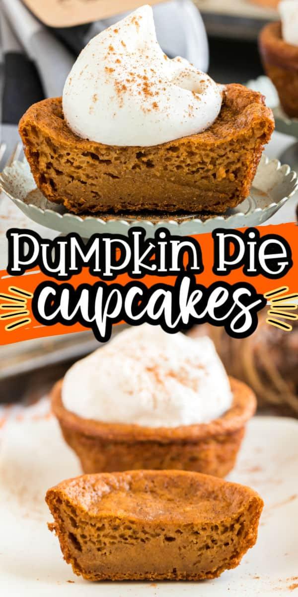 pumpkin pie cupcakes pinterest image