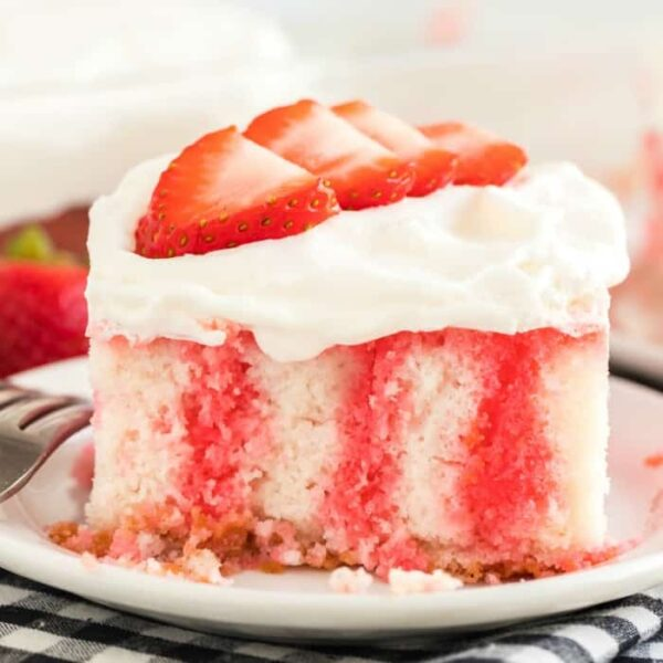 Jello poke cake featured image