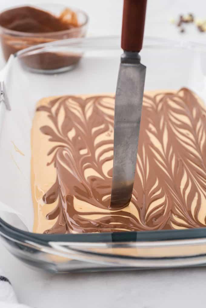 swirl chocolate and peanut butter