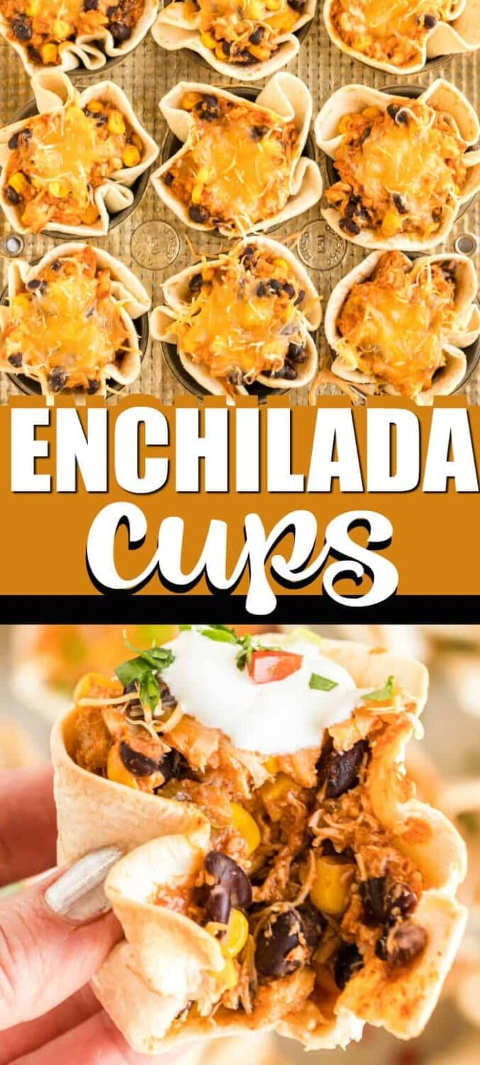 Chicken enchilada cups