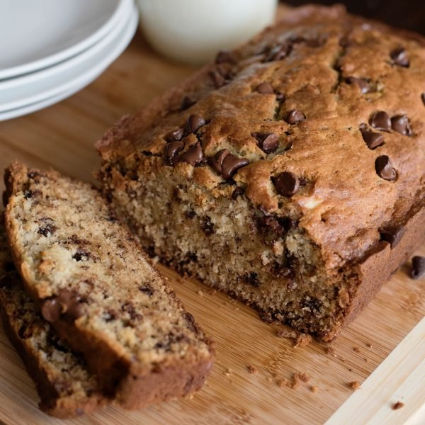 Chocolate Chip Banana Bread sliced featured image