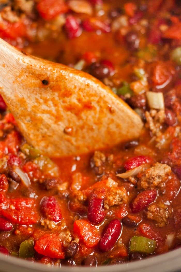 Instant Pot Chili close up