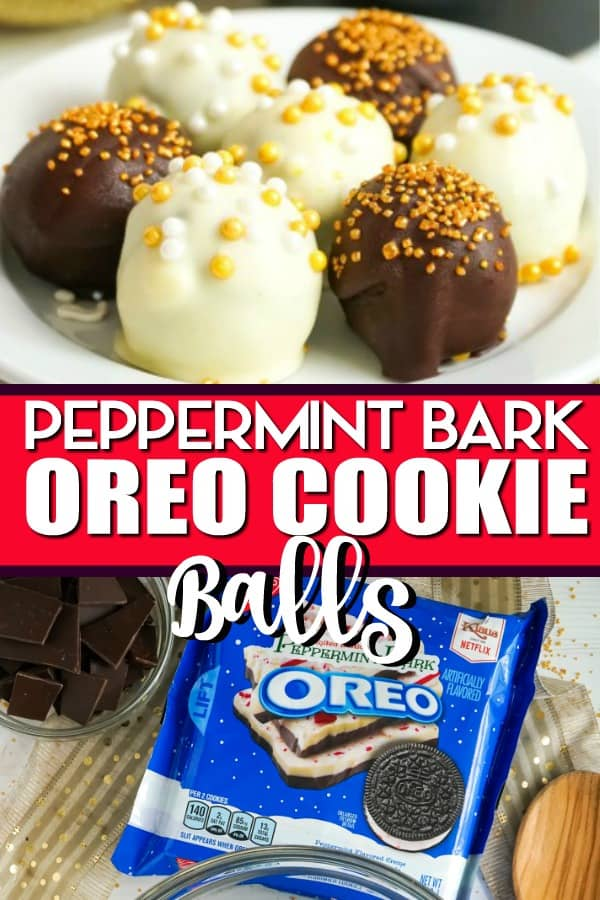 Peppermint Bark Oreo Cookie Balls