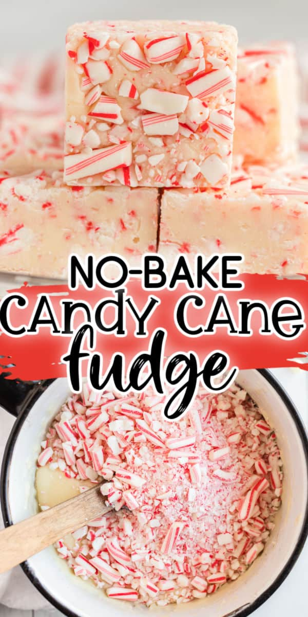 Candy Cane Fudge Pinterest Image