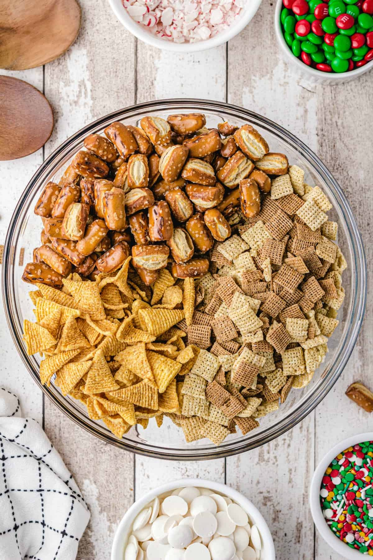 Christmas Chex Mix ingredients