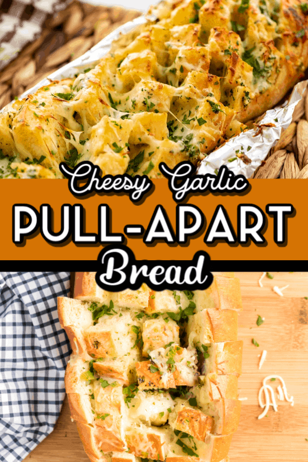 Cheesy Garlic Pull-Apart Bread pin
