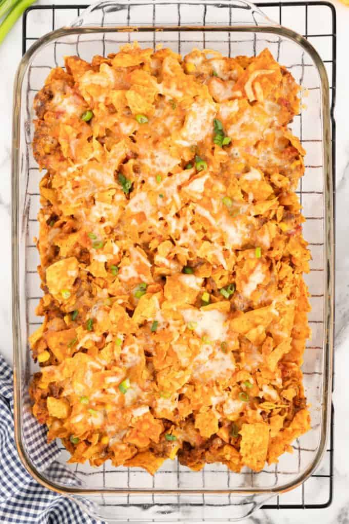 Dorito Casserole baked