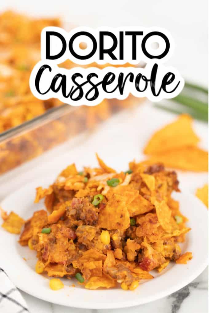 Dorito Casserole on a plate