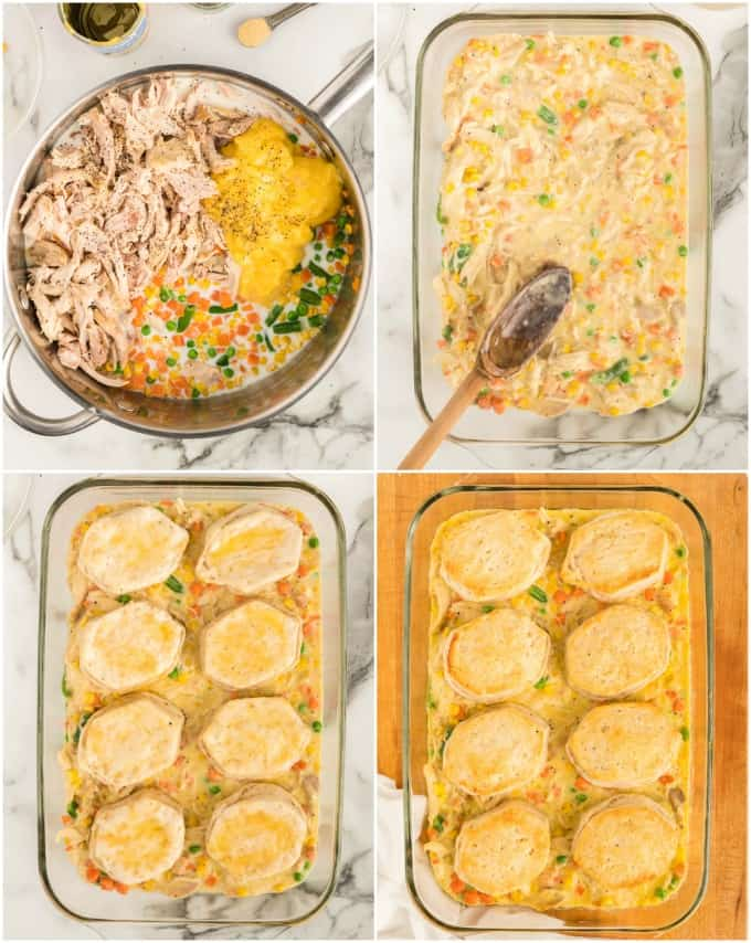 how to make Chicken Pot Pie Casserole