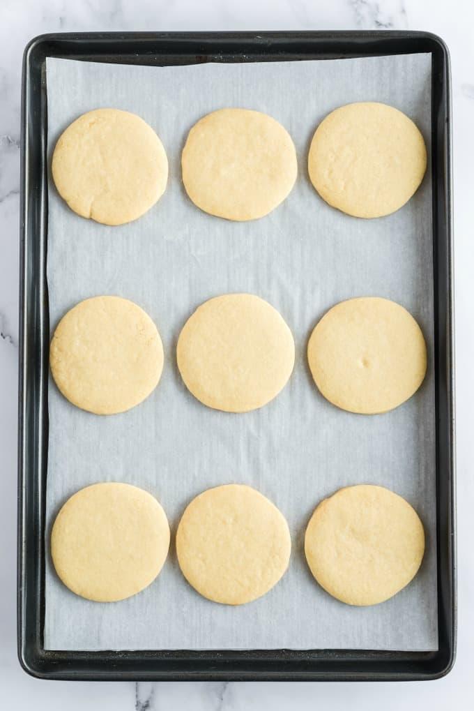 Sugar Cookies on pan