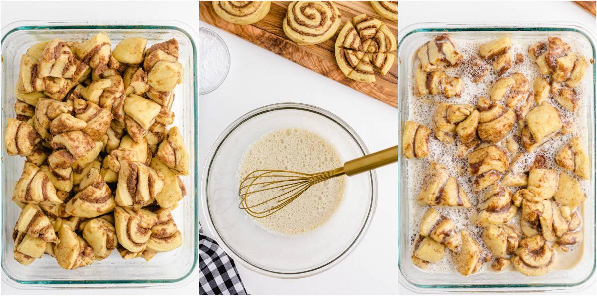 Cinnamon Roll Casserole steps to make