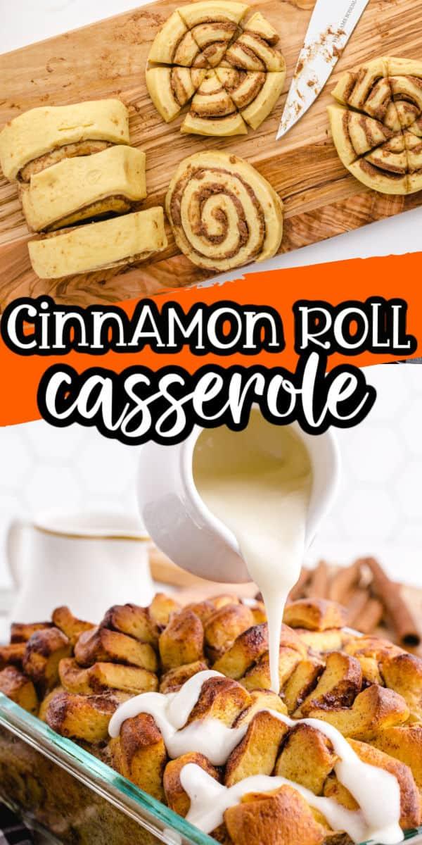 Cinnamon Roll Casserole Pinterest Image