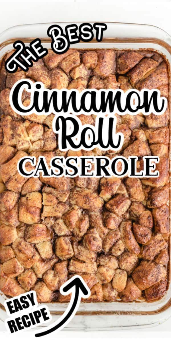 Cinnamon Roll Casserole Pinterest