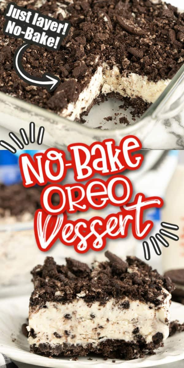 No-Bake Oreo Dessert Pinterest Image