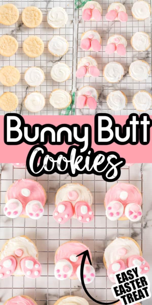 Easy Bunny Butt Cookies
