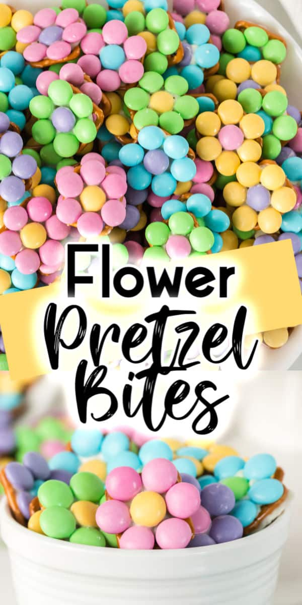 Flower Pretzel Bites - Sweet and salty treat