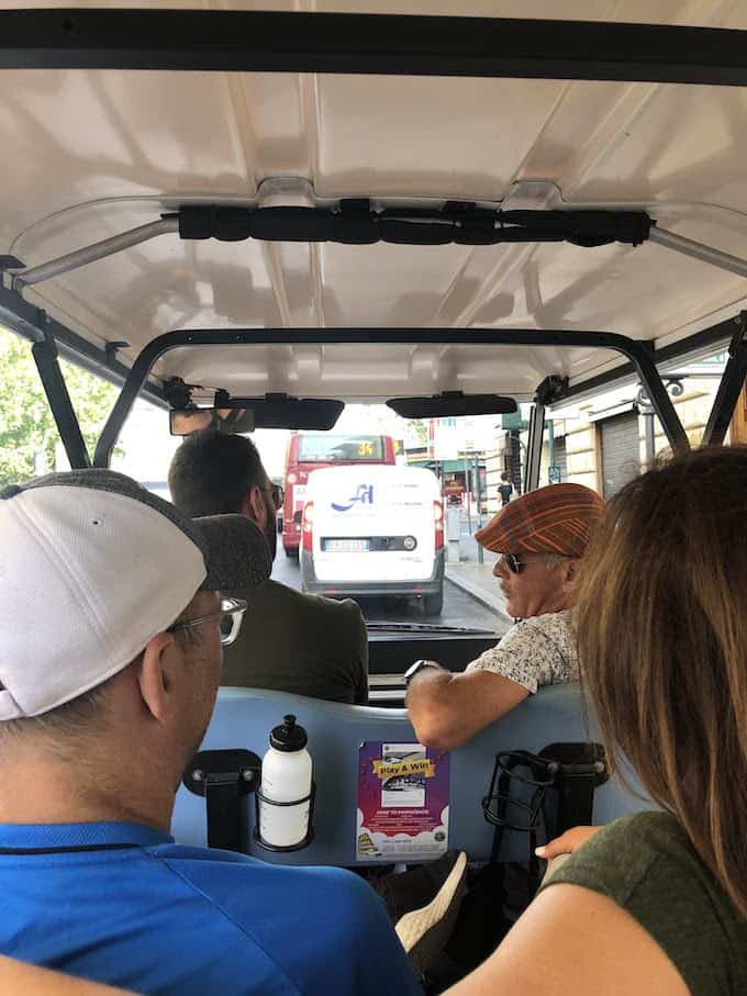 golf cart tour in Rome