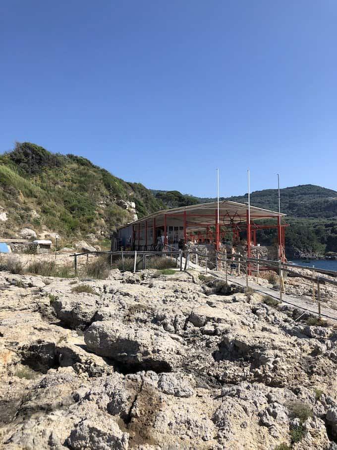 restaurant on hike in Sorrento