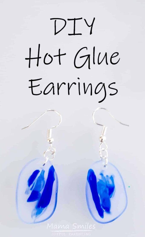 DIY Hot Glue Earrings by Mama Smiles