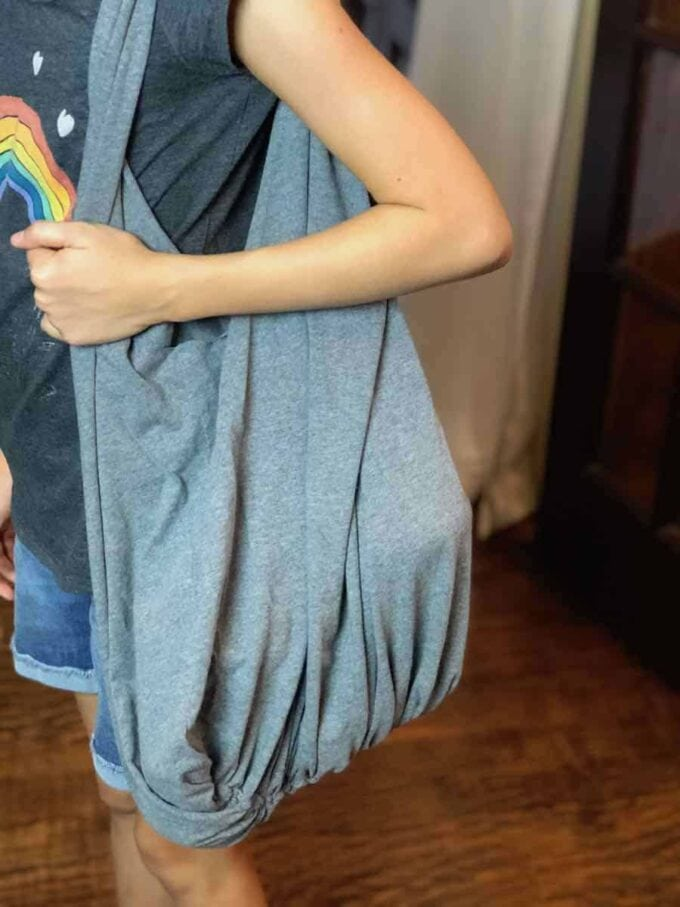 DIY No Sew T Shirt Bag by Happiest Camper