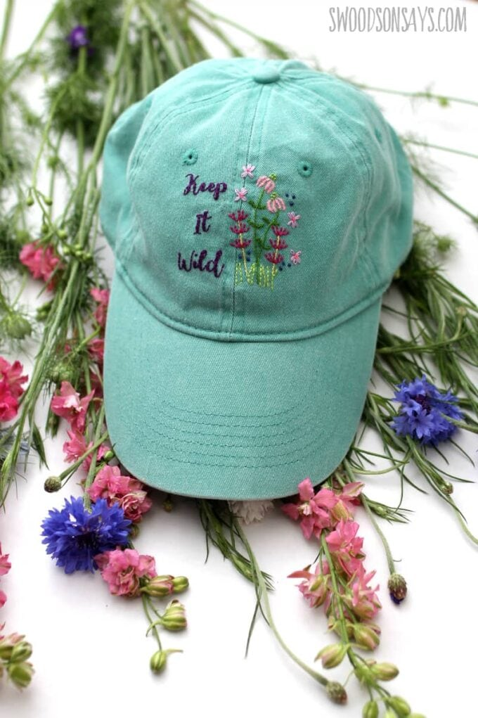 How to Embroider a Hat by Hand by S Woodson Says