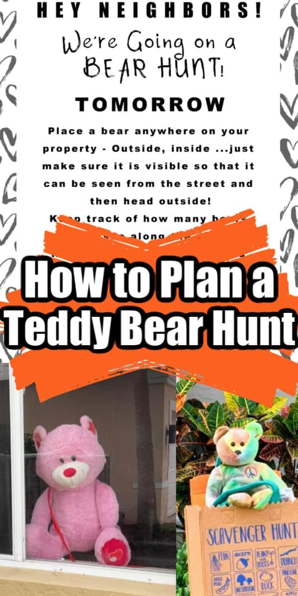How to Plan a TEDDY BEAR SCAVENGER HUNT (with FREE PRINTABLE)