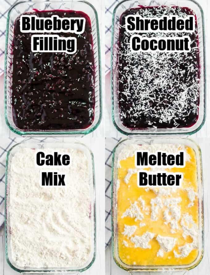 How to make Blueberry Dump Cake