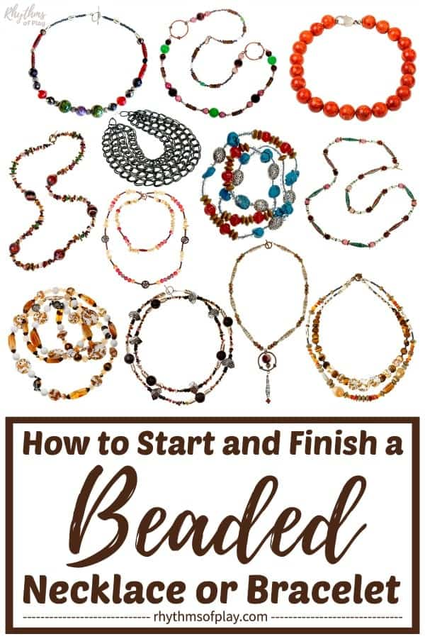 How to start and finish a necklace or bracelet by Rhythms of Play