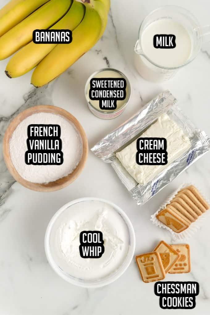 Ingredients for Not Yo' Mama's Banana Pudding