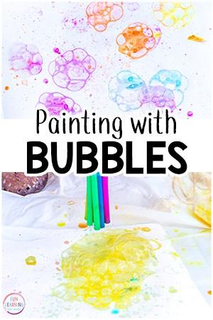 Bubble Painting Process Art Activity