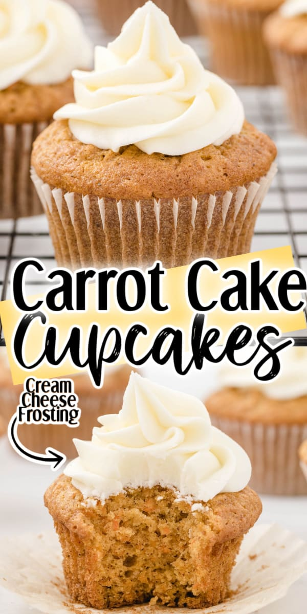 Carrot Cake Cupcakes Pinterest Image